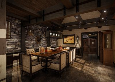 Rustic Dinning Room Design Orange County
