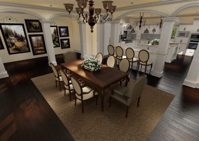 Traditional Dinning Room Design Los Angeles